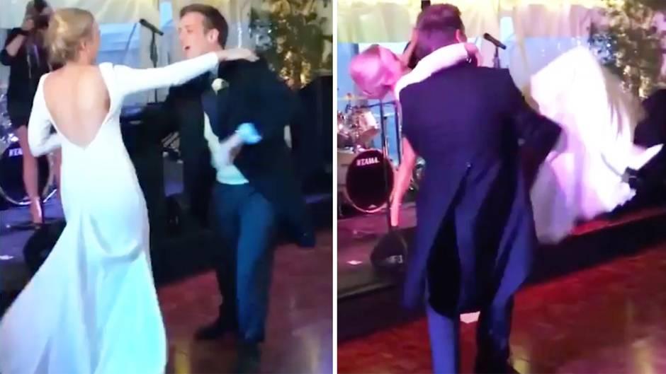 England: Hochzeitstanz geht richtig schief