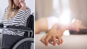 Lähmung nach Orgasmus - Frau sitzt nach Sex im Rollstuhl