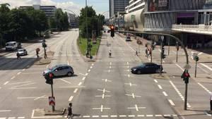 Hamburger Straßen gespenstisch leer während des G20-Gipfels