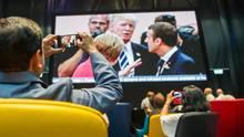 Journalisten im Medienzentrum in Hamburg: Einige der Kollegen dürfen seit Freitag hier nicht mehr rein