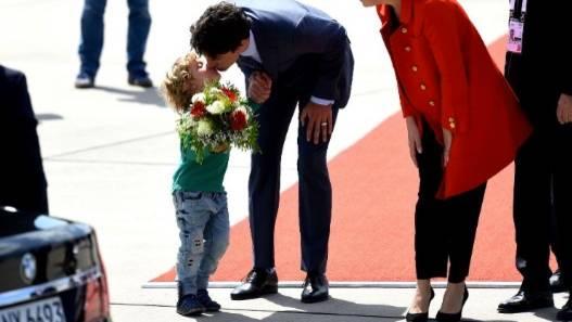 Justin Trudeau und sein Sohn Hadrien