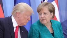 Angele Merkel und Donald Trump auf dem G20-Gipfel in Hamburg