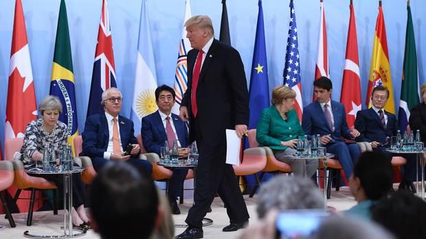 Donald Trump auf dem G20-Gipfel: Alleine gegen alle