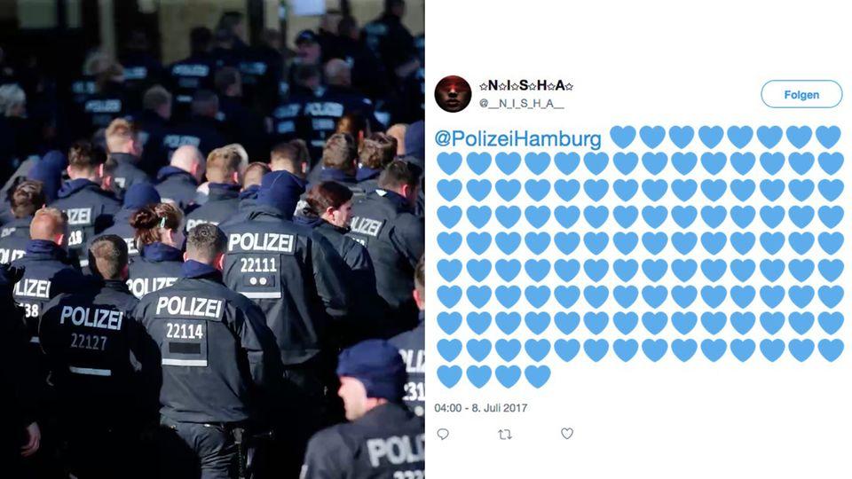 Sympathie für die Polizei in den sozialen Medien