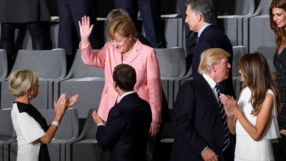 Konzert zum G20-Gipfel: So wird Merkel in der Elphi gefeiert