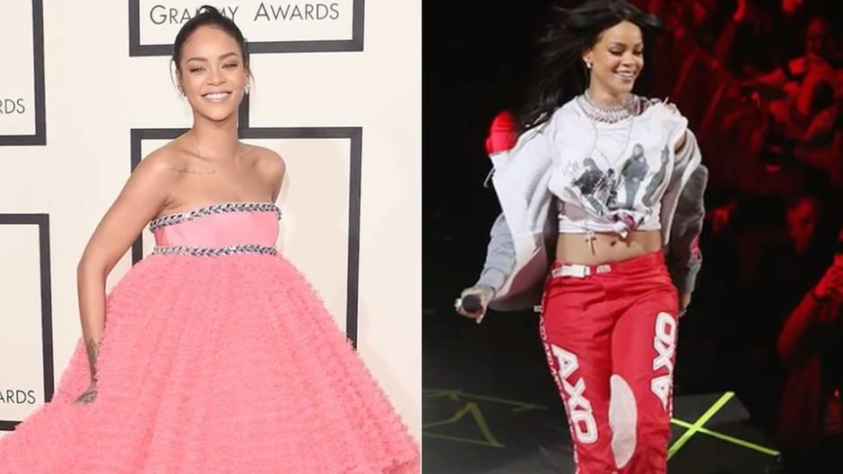 """Von Jogginganzug bis Abendkleid: Das sind die spektakulärsten Outfits der """"Queen of Pop"""" Rihanna"""