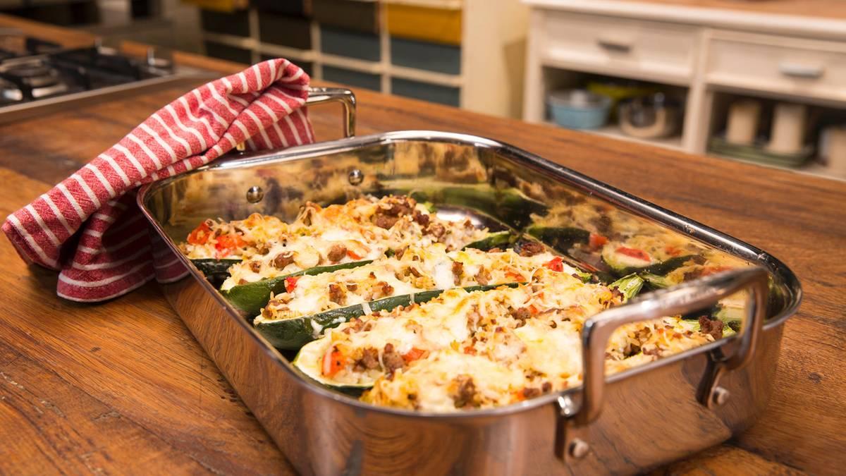 Überbackene Köstlichkeit: Diese Zucchini mit Hackfleisch-Reis-Füllung sind ein echter Gaumenschmaus