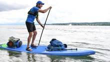 Plastikmüll: Merijn Tinga paddelt 1200 Kilometer den Rhein entlang und sammelt Abfälle