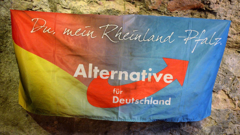 Banner der AfD Rheinland-Pfalz