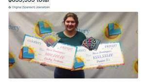 USA: 19-Jährige gewinnt zwei Mal in einer Woche im Lotto