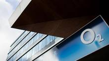 Das O2-Logo an einem Ladengeschäft