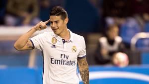 James Rodriguez war bei Real Madrid mit seiner Reservistenrolle unzufrieden. Künftig spielt der Kolumbianer für den FC Bayern München
