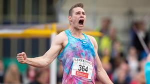 In Luzern jubelt Johannes Vetter über seinen Rekordwurf