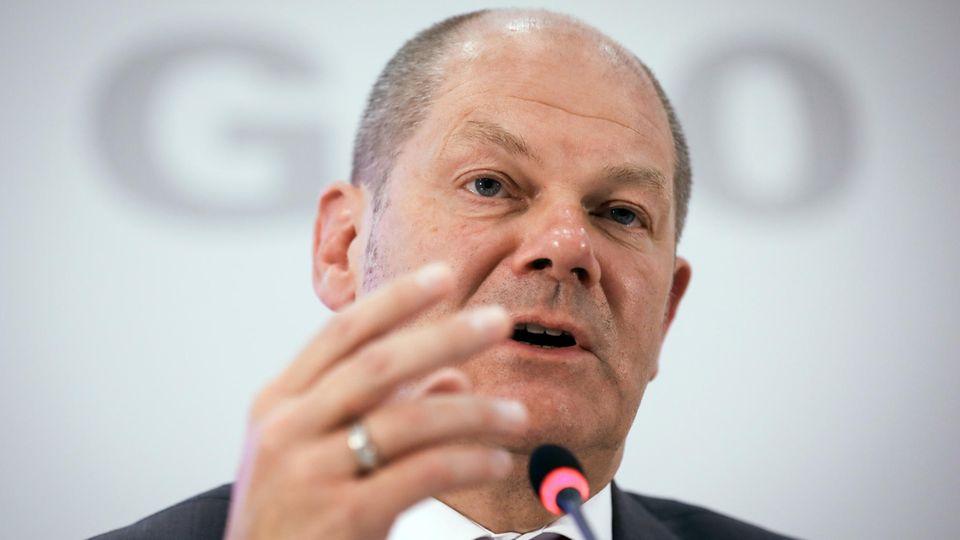 Hamburgs Erster Bürgermeister Olaf Scholz, hier bei der Pressekonferenz zur Bilanz des G20-Gipfels im Polizeipräsidium.