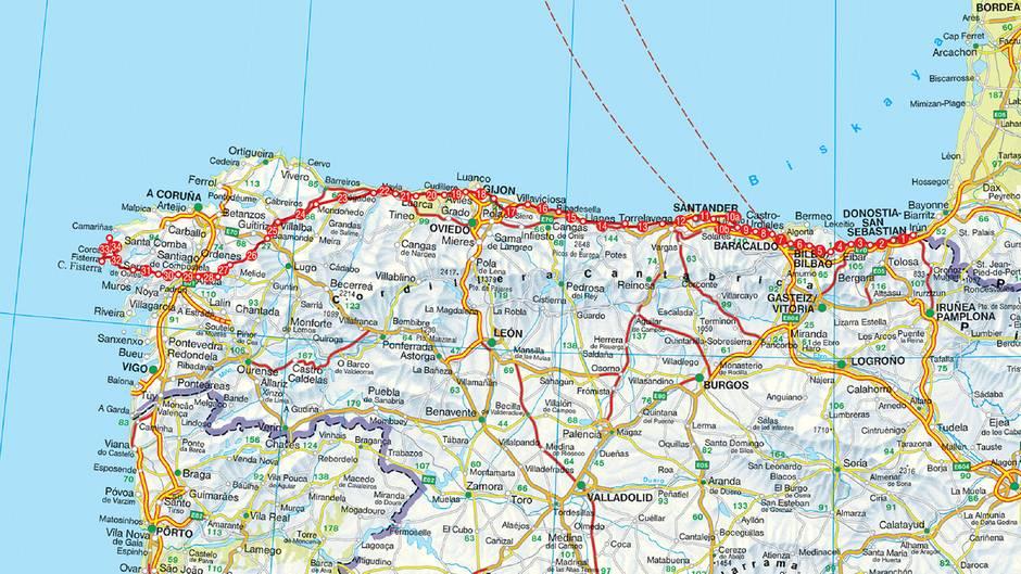 Jakobsweg Spanien Karte.Camino Del Norte Der Jakobsweg Im Norden Spaniens Stern De