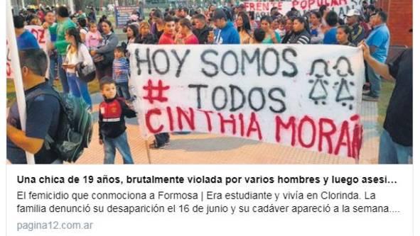 """""""Heute sind wir alle Cinthia Morán"""": Der brutale Vergewaltigungs- und Mordfall an einer jungen Frau ist beispielhaft für ein tief sitzendes Problem in der Gesellschaft Argentiniens"""