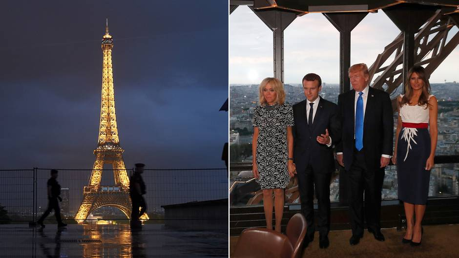 Auf dem Eiffelturm: Trump bei Star-Koch Ducasse: So sah das 6-Gänge-Menü aus
