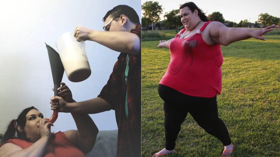10.000 Kalorien am Tag: Sie wollte die dickste Frau der Welt sein, doch ein Baby ändert alles