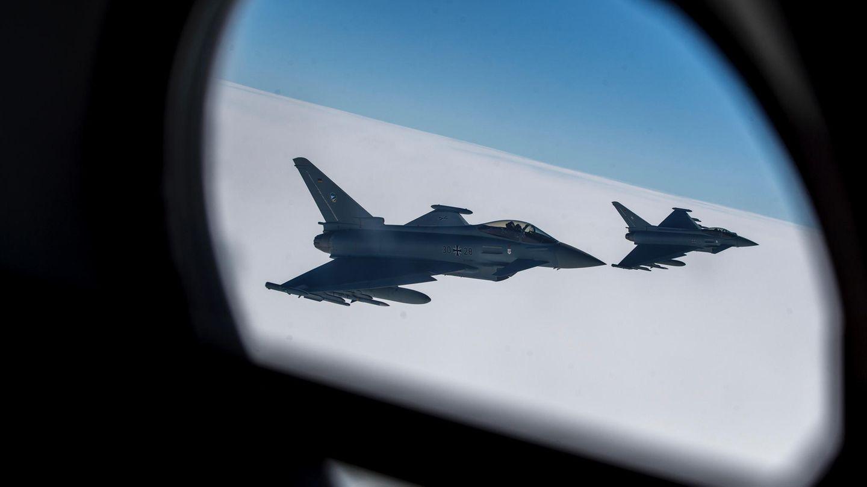 Deutscher Kampfjet vom Typ «Eurofighter Typhoon»