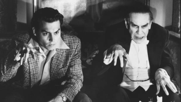 "Johnny Depp und Martin Landau in ""Ed Wood"""