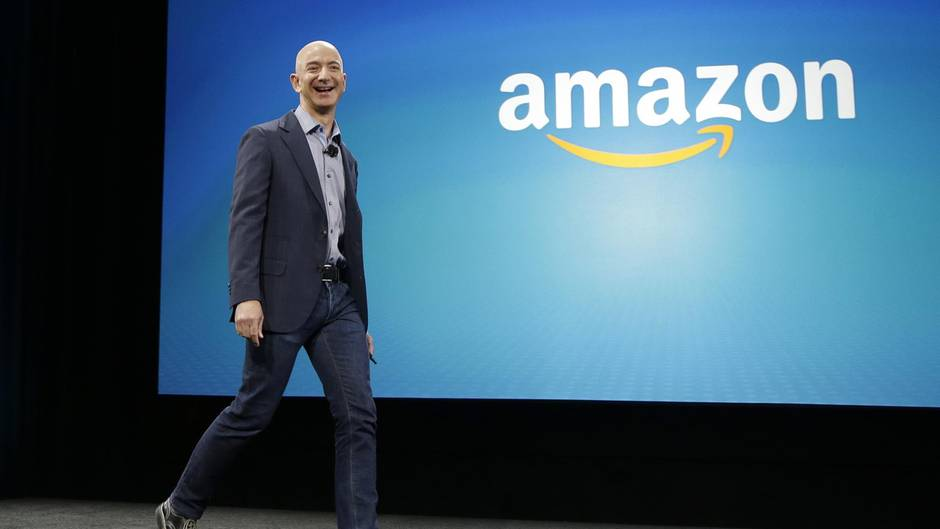 Amazon-Chef Jeff Bezos bei des Präsentation des neuen Amazon Fire Phone in Seattle