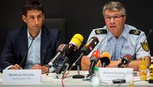 Matthias Klopfer (l.), Oberbürgermeister von Schorndorf und Roland Eisele (r.), Polizeipräsident in Aalen
