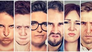 Wütende Gesichter