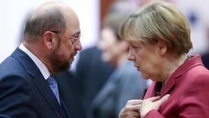Martin Schulz ist derzeit chancenlos gegen Angela Merkel