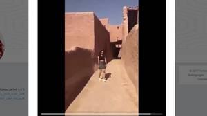 Screenshot des geteilten Videos der jungen Frau aus Saudi-Arabien