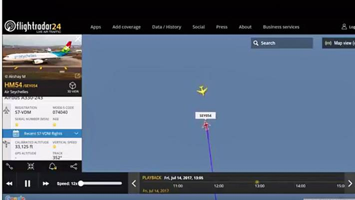 Am 14. Juli rasten zwei Flugzeuge nördlich von Mauritius aufeinander zu: Der Airbus A380 von Emirates kam aus den Norden, von Süden ein Airbus A330 von Air Seychelles.