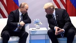 Wladimir Putin und Donald Trump nach ihrem ersten Treffen am Rande des G20-Gipfels in Hamburg.