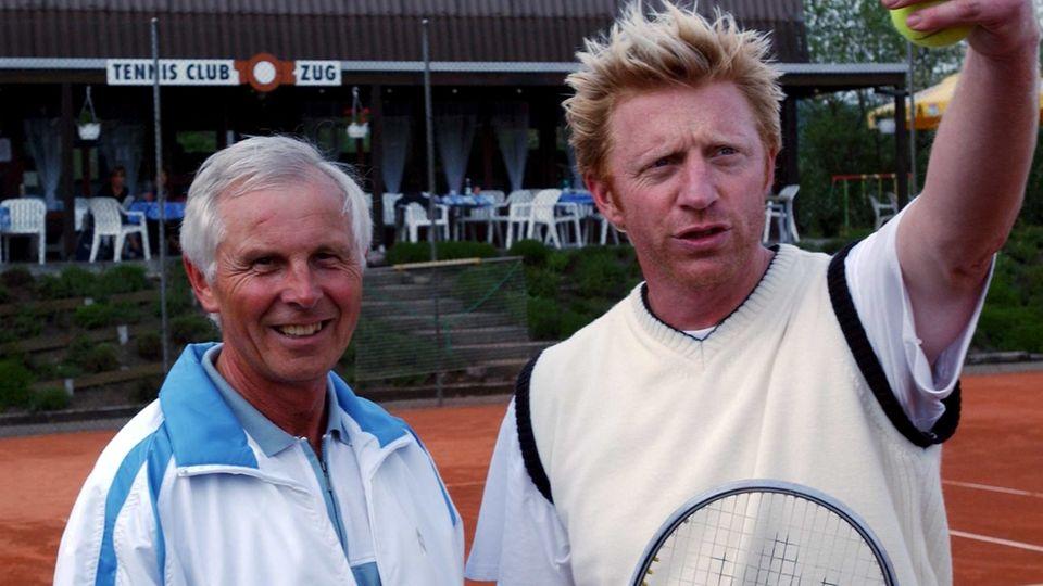 Boris Becker und Hans-Dieter Cleven