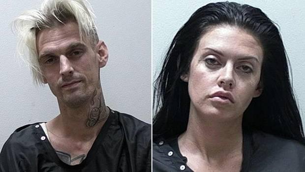 Aaron Carter und seine Freundin Madison Parker nach ihrer Festnahme