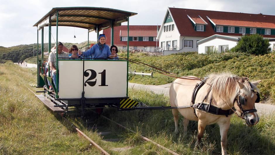 Museums-Pferdebahn auf Spiekeroog