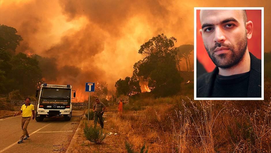 Hinter der Feuerbrunst von Italien steckt eiskaltes Kalkül, sagt Roberto Saviano.