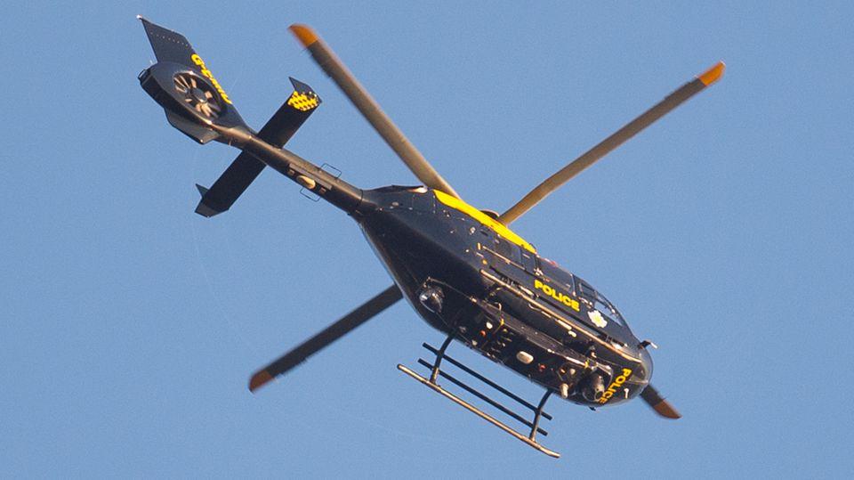 Großbritannien: Ein Hubschrauber der britischen Polizei