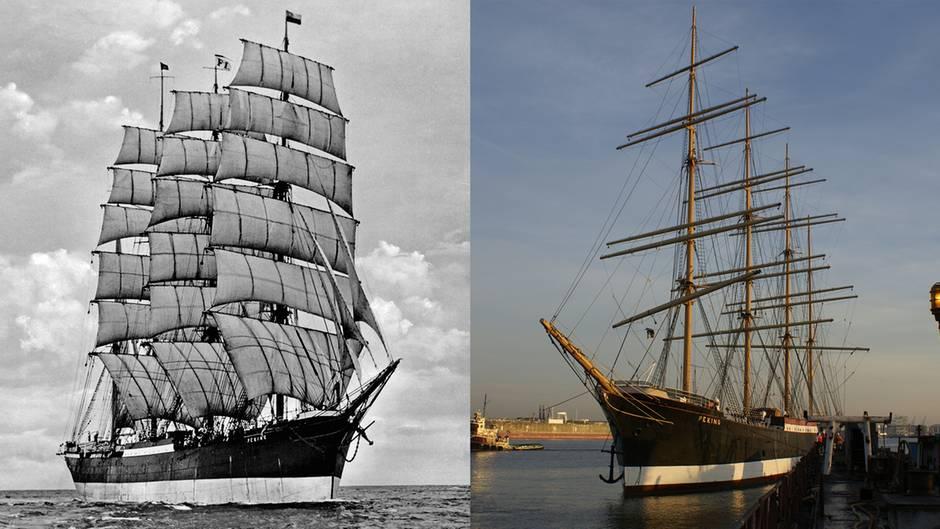 """Historischer Frachtsegler: Die """"Peking"""" kehrt nach 106 Jahren zurück nach Hamburg"""
