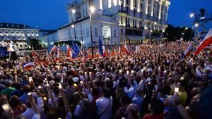 Tausende protestieren gegen die geplante Justizreform Polens