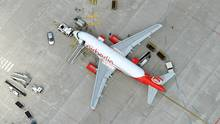 Steht am Boden und hebt nicht mehr ab: Der Flug AB6311 am 20. Juli von Hamburg nach München.