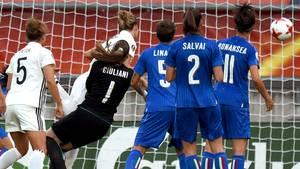 Fußball-EM der Frauen: Josephine Henning trifft für die DFB-Auswahl gegen Italien