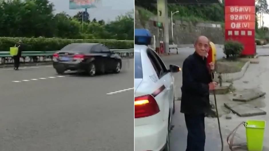 Berührender Vorfall aus China: 80-Jähriger läuft 60 Kilometer auf der Autobahn - aus Liebe zu seinem Enkel