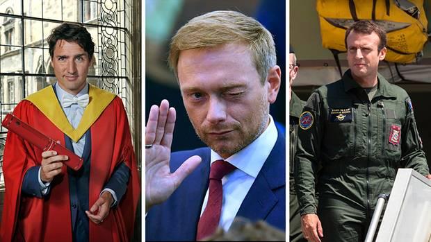 Kanadas Premier Justin Trudeau, FDP-Chef Christian Lindner oder Frankreichs Präsident Emmanuel Macron (v.l.n.r)