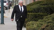 Winston Blackmore erscheint zum Gerichtstermin in Cranbrook, Kanada.