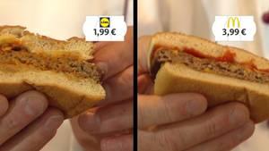 Der Geschmackstest: Lidl versus McDonald's