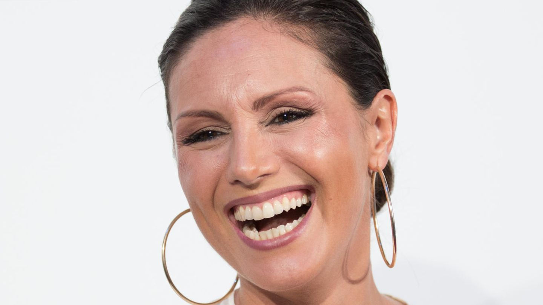 Die Moderatorin Nazan Eckes posiert bei einer RTL-Programm-Präsentation