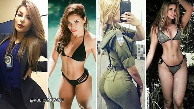 Policemuscle: So sexy präsentieren sich Polizisten bei Instagram