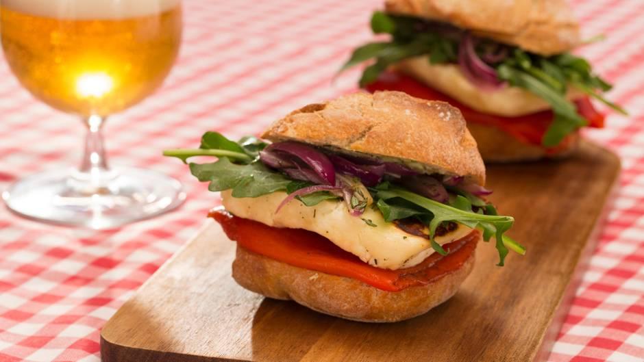Rezeptidee: Dieser Halloumi-Burger ist der Liebling aller Vegetarier
