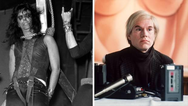 Alice Cooper (l.) und Andy Warhol im Jahre 1972.
