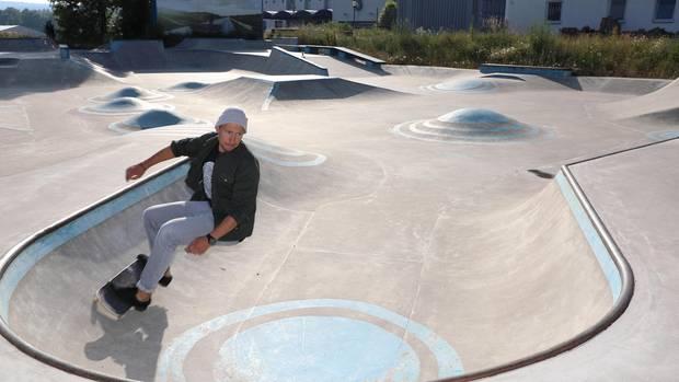 Michael Spitzbarth im Skaterpark Helmbrechts