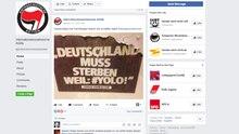 """Die Facebook-Seite """"Internationalsozialistische Antifa"""""""